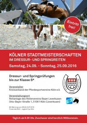 Plakat Kölner Stadtmeisterschaft 24_25092016
